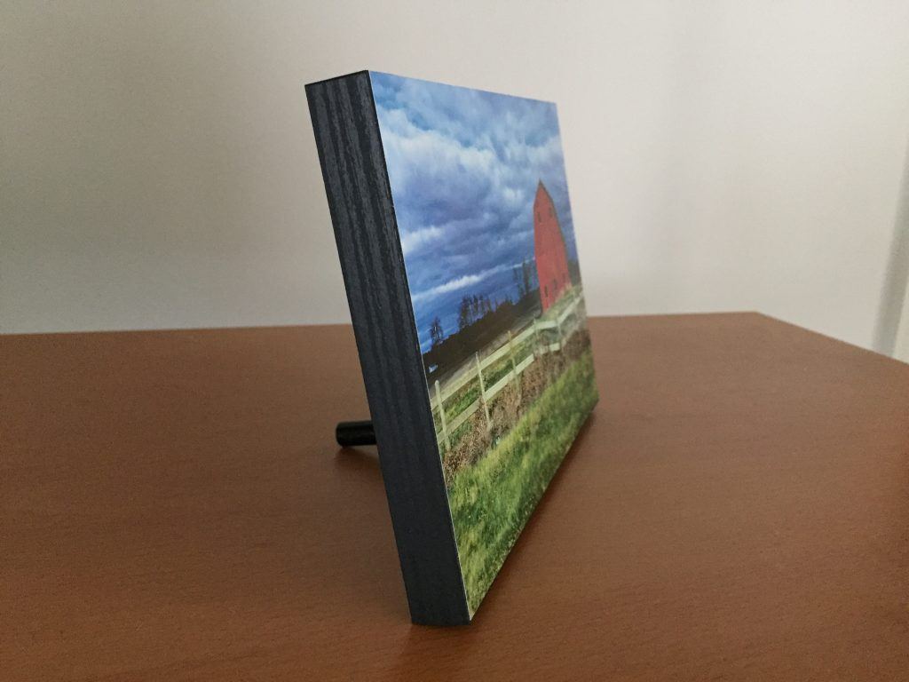 little red barn wood print 5 x 7 photography ashburn va